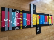 tableau art abstrait superbe design : Minnesota Yellow Squares