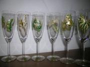 ceramique verre animaux flute ,a champagne papillon libellule : Flûte à champagne