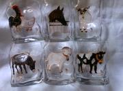 ceramique verre animaux verres ,a wisky animaux ferme : Verres à wisky