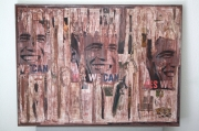 """mixte obamma art urbain collage : Spirit of wall """"yes we can"""""""