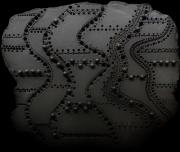 sculpture abstrait modelage gres couture noir : Haute couture