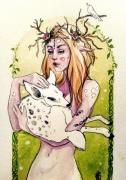 dessin personnages elfe biche fantasy fee : White Deer