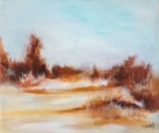 tableau paysages paysage acrylique littoral lande : Impression littoral