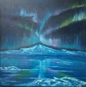 """tableau paysages aurores boreales paysage nuit : """"Aurores boréales"""""""