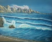"""tableau paysages paysage montagne merocean vague : """"Vague"""""""