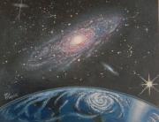 tableau autres espace planete galaxie univers : jumelle éloignée