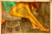 tableau personnages nue hahembai : Longue fille nue