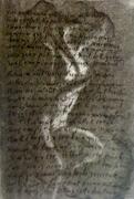 tableau nus nue fusain encre : Ballade à s'amie