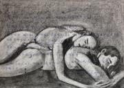 dessin personnages : Couple enlacé