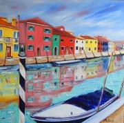 tableau paysages venise burano : Burano Venezia