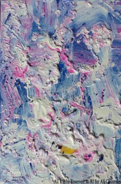 TABLEAU PEINTURE BLUE M by M-RI PAINTING BLUE M by M PEINTURE BLUE M par BLUE M peinture acry Abstrait Acrylique  - BLUE M