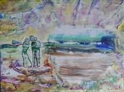 tableau scene de genre angelus peinture mr angelus painting mr angelus artwork mri angelus art abstrait : ANGELUS