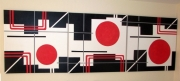 tableau abstrait minimaliste : rebound