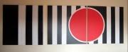 tableau abstrait minimaliste : triptyque n1