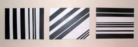 TABLEAU PEINTURE minimaliste Abstrait Acrylique  - angles