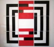tableau abstrait minimaliste : x8