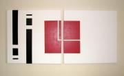 tableau abstrait minimaliste : dyptique n2