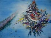tableau abstrait silence espoir paradis : AU DELA DU SILENCE