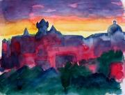 tableau architecture aubenas ardeche soleil contours : Skyline d'Aubenas