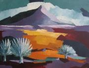 tableau paysages montagne provence cezanne contemporain : Mont Saint Victoire