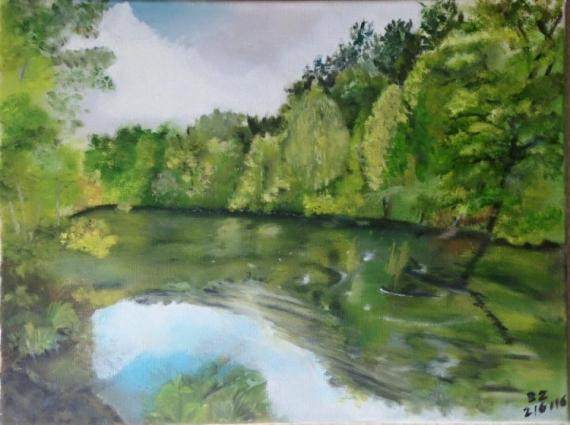 TABLEAU PEINTURE Paysages Peinture a l'huile  - UNE BELLE IDEE