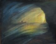 tableau autres grotte barque mystere eau : L'issue