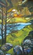 tableau paysages montagne nature suisse lumiere : L'éclaircie