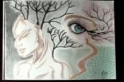 dessin scene de genre oeil : Passage
