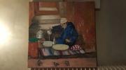 tableau personnages maroc the ,a la menthe marrakech decoration : vendeur de thé à la menthe