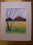 tableau paysages aquarelle original ete paysage : Alain Polanski   N° 29