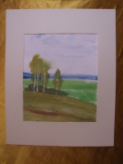 tableau paysages aquarelle original paysage printemps : Alain Polanski   N° 31