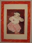 tableau personnages acrylique original portrait enfant : ALAIN POLANSKI   N° 5