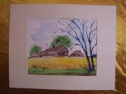tableau paysages aquarelle original ete paysage : Alain Polanski   N° 35