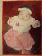 tableau personnages portrait acrylique original enfant : ALAIN POLANSKI   N° 5