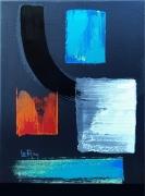 tableau abstrait abstrait noir desing moderne : Mandelieu la Napoule