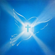 tableau autres colombe croix saint esprit religion : Esprit Saint