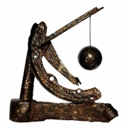 sculpture levitation bronze acier sextan : Sextant