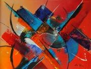 tableau abstrait : Indochine