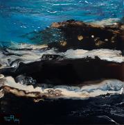 tableau paysages mer bleu noir multimedia : Bord de mer
