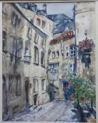 tableau villes poesie ruelle charme : Impass ST Jean. Metz