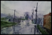 tableau paysages pluie promenade nature : Scy-Chazelles. Lorraine