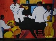 tableau scene de genre jazzer noir musique swing : Jazz Band