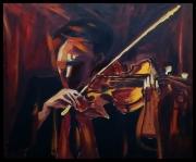 tableau scene de genre paris musique sublime dance : Le Violoniste