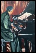 tableau scene de genre son poesie souvenirs rytmes : Le Pianiste.