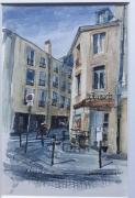 tableau villes cafe rdv artiste : Le Café Chaouée. Metz