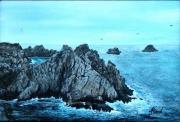 tableau marine mer ocean rocher vague : BRETAGNE-TAS DE POIS