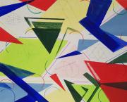 tableau abstrait geometrique abstrait : CONSTRUCTION 1