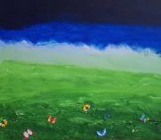 tableau abstrait abstrait : PRAIRIE 5