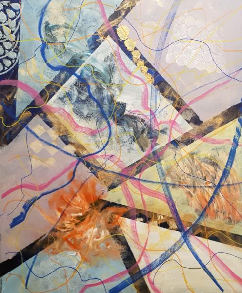 TABLEAU PEINTURE ART GEOMETRIQUE Abstrait Acrylique  - IMPARFAIT 15