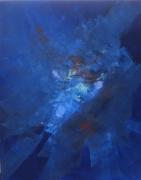 tableau abstrait bleu 1 : Bleu 1